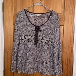 Michael Kors long sleeve blouse